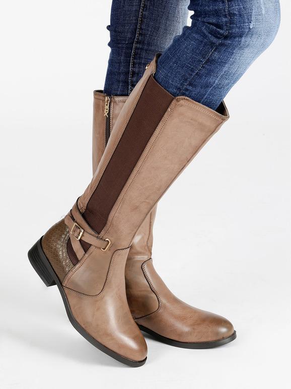 assolutamente alla moda 100% di alta qualità raccolto Stivali marroni con tacco basso xti   MecShopping