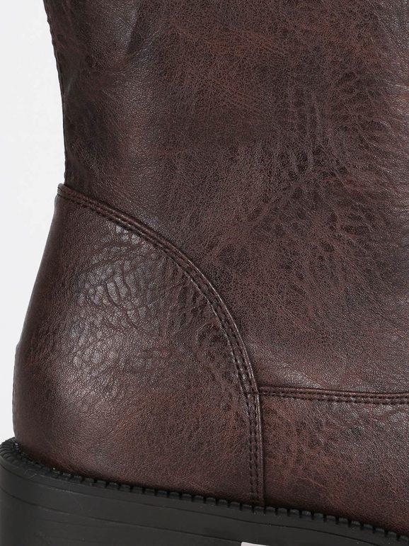 di buona qualità colori delicati per comprare Stivali marroni con tacco basso janessa   MecShopping