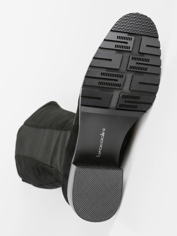 Stivali neri con catena braccialini | MecShopping
