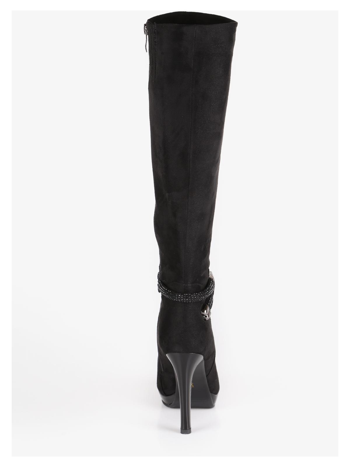 Stivali scamosciati con tacco alto laura biagiotti | MecShopping