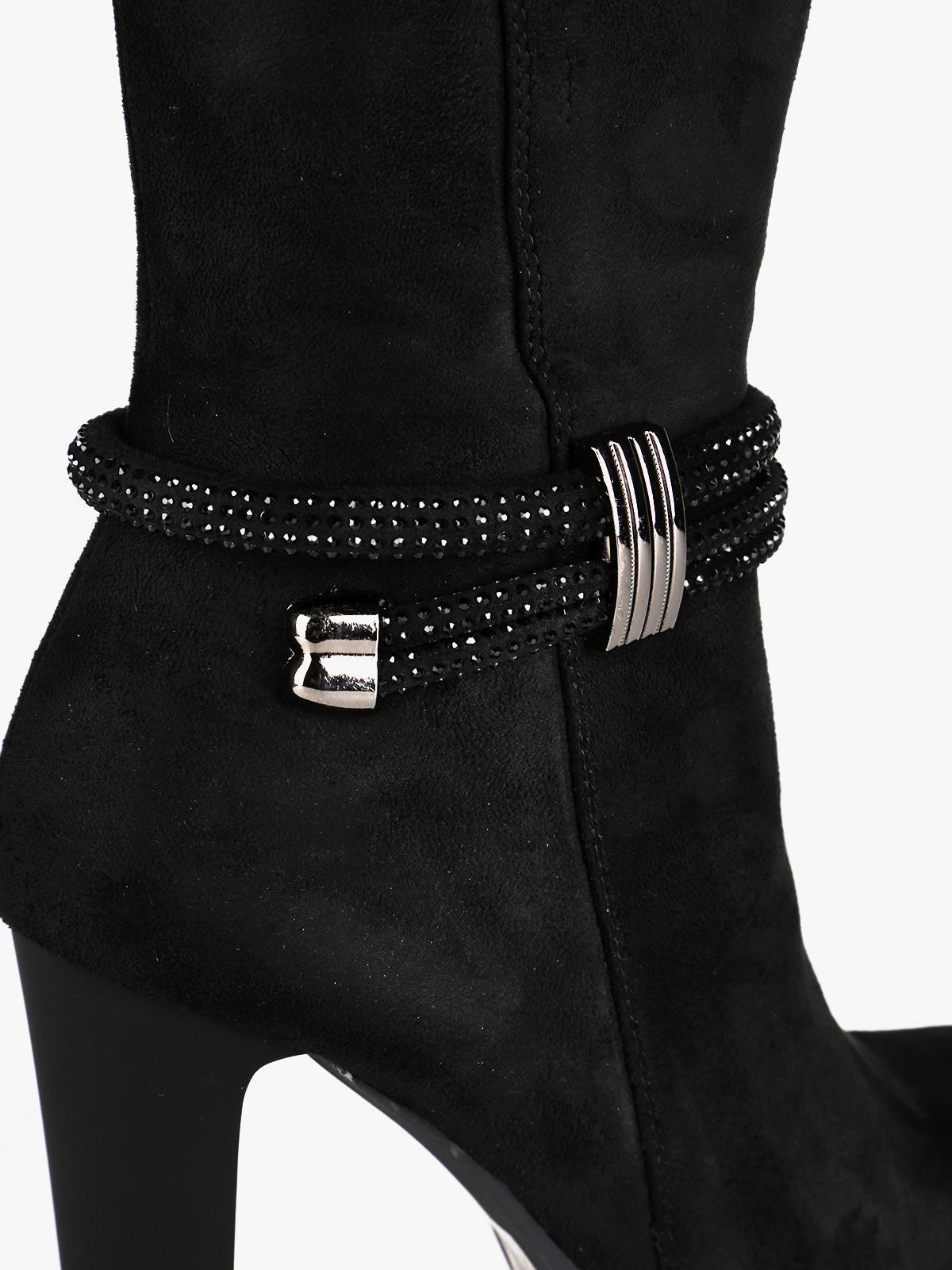 Stivali scamosciati con tacco alto braccialini | MecShopping