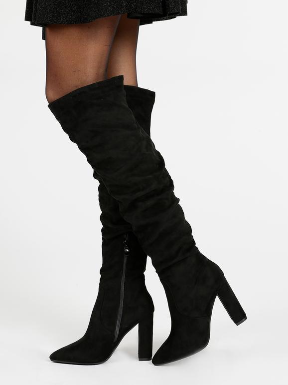 Stivali sopra il ginocchio con tacco e plateau janessa