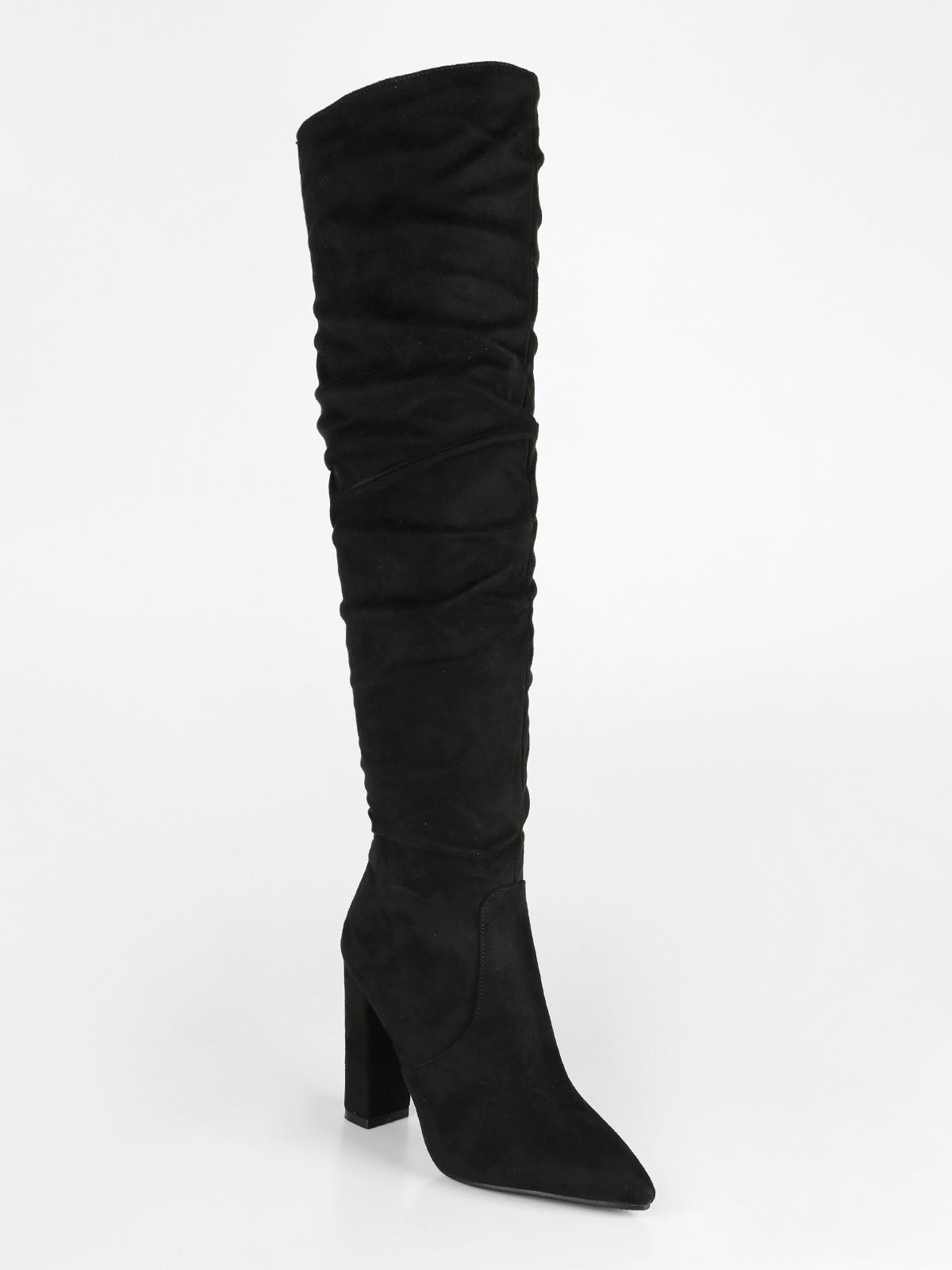 9b90e60fd2 Stivali sopra il ginocchio a punta con tacco largo janessa | MecShopping