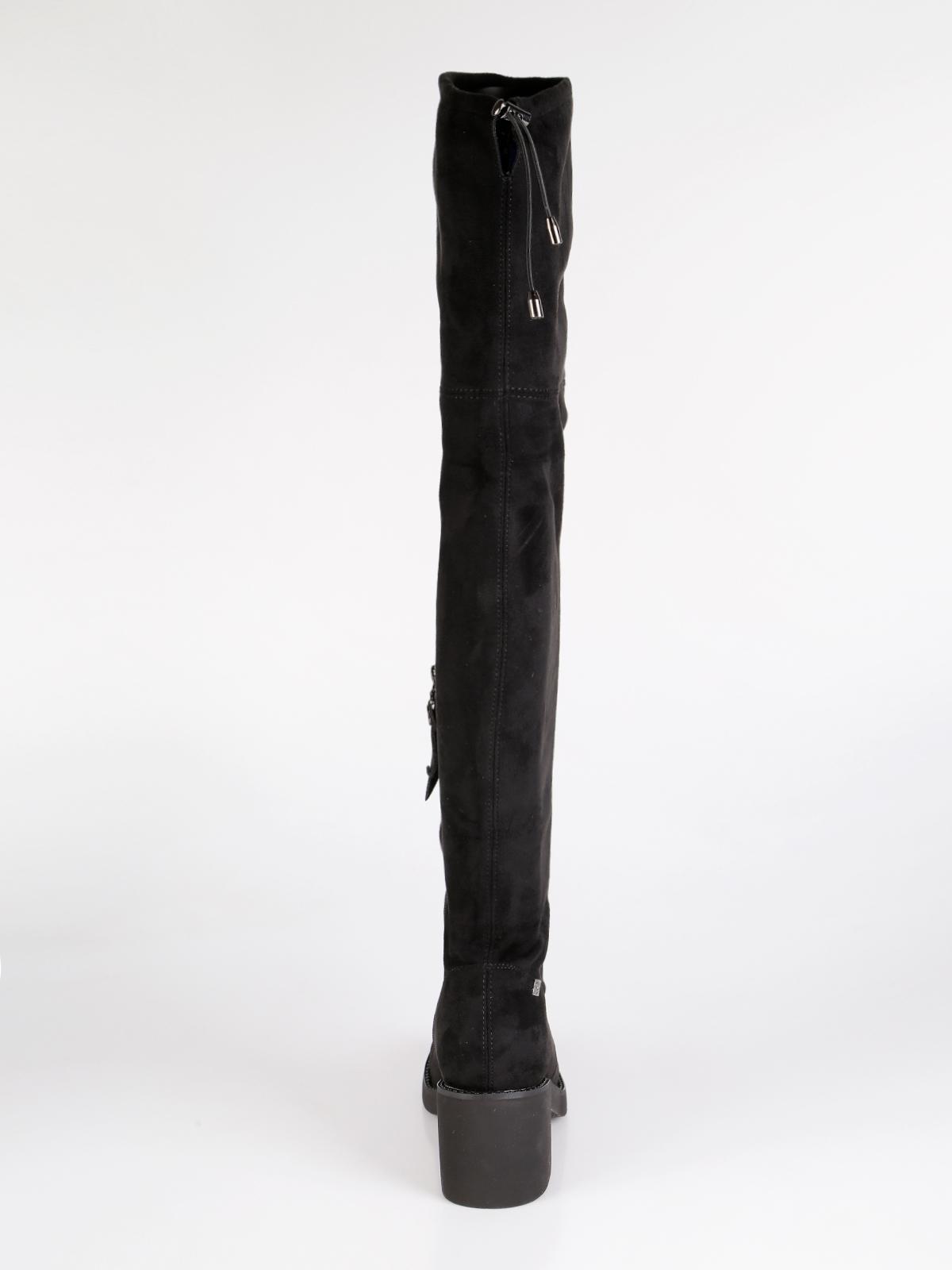 Stivali sopra il ginocchio nero braccialini   MecShopping