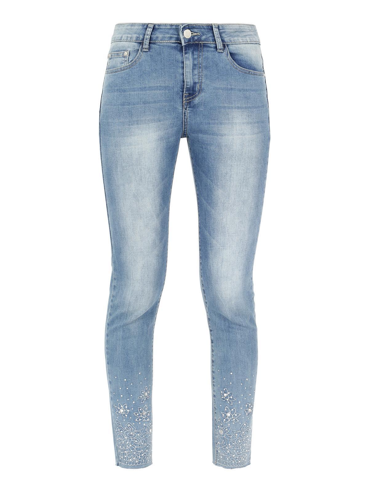 FARFALLINA Jeans Elasticizzati con Strappi Donna Cotone