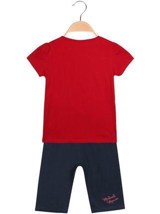 T-Shirt da Bambina Disney Princess Disney Bianca Rossa da Sogno