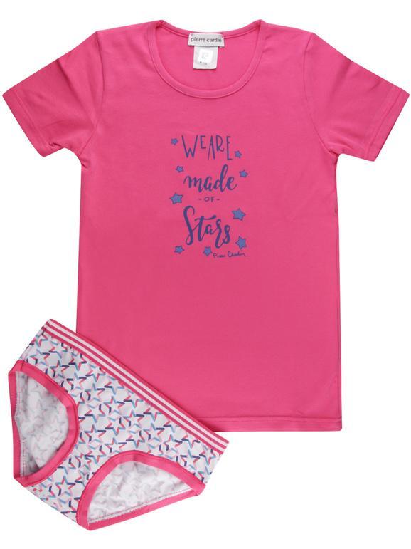 T-shirt intima + slip - coordinato intimo bimba