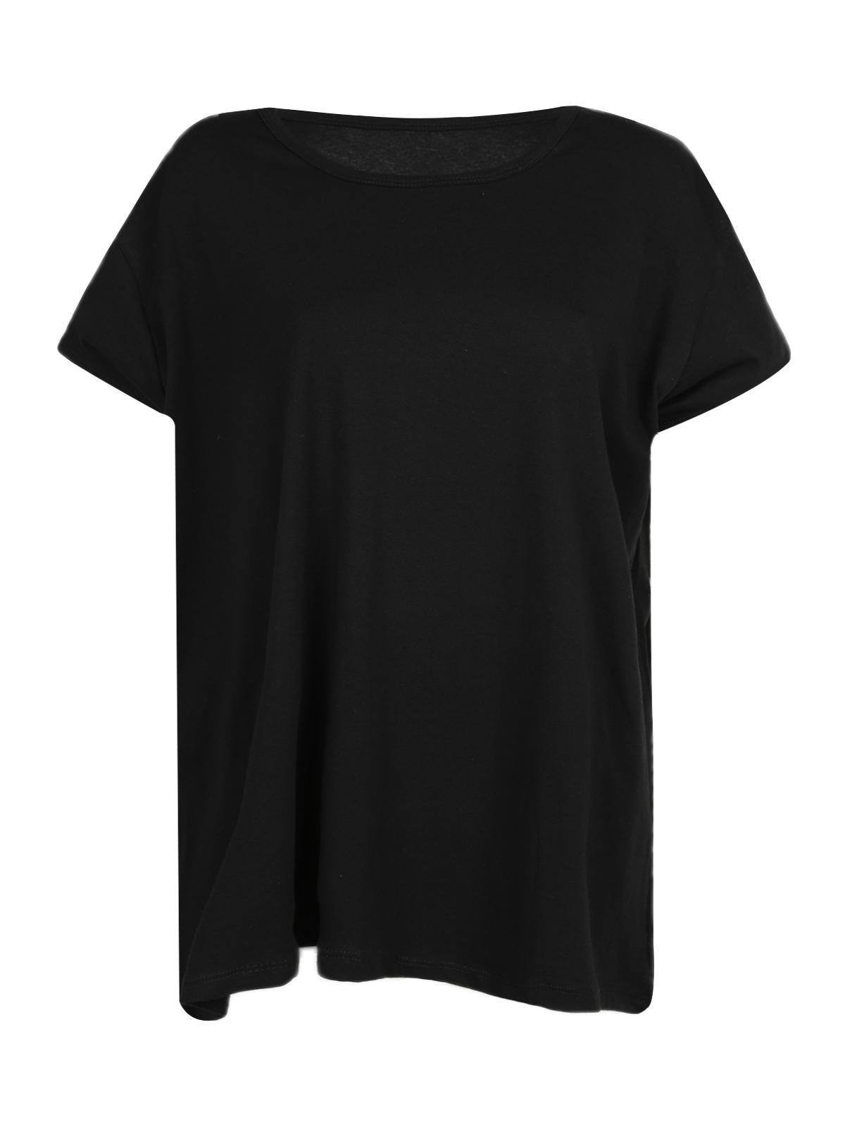 una grande varietà di modelli vendita più calda aliexpress T-shirt nera in cotone - taglie comode solada | MecShopping