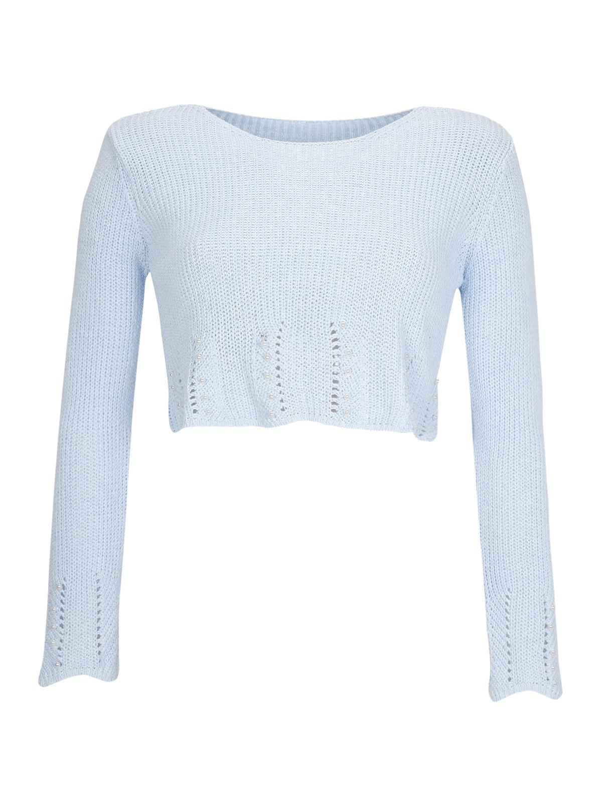 fb6108c3d7 Top corto in maglia con perle new collection | MecShopping