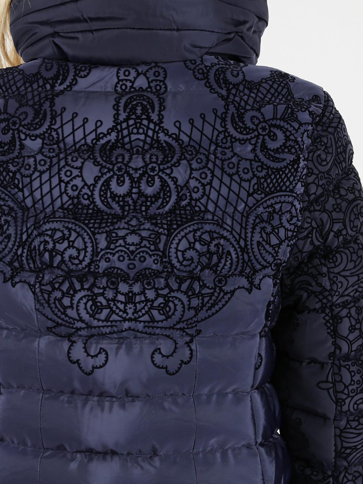 Veste matelassée avec motif en relief bleu ellen rose