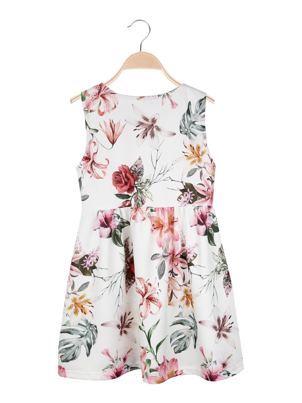 finest selection bcc0f 99cc9 Vestito a fiori bianco con fiocchetto solada | MecShopping