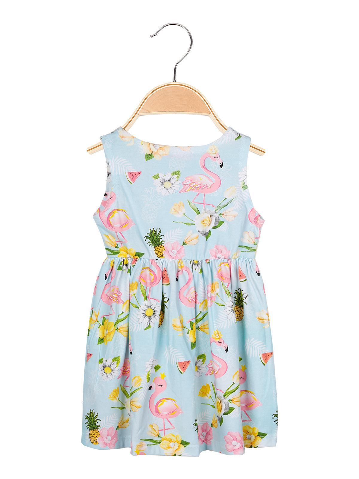 size 40 c3196 45d00 Vestito azzurro con stampa disegni pink rabbit | MecShopping