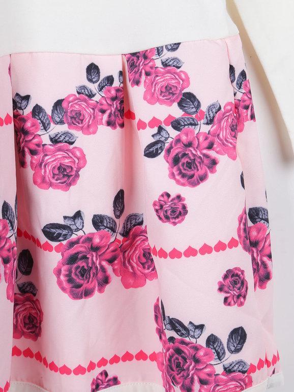 Vestito con fiori + leggings - completo 2 pezzi