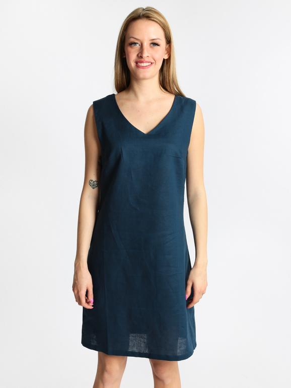 promo code 15953 721c9 Vestito con scollo a V in lino e cotone sweet miss | MecShopping