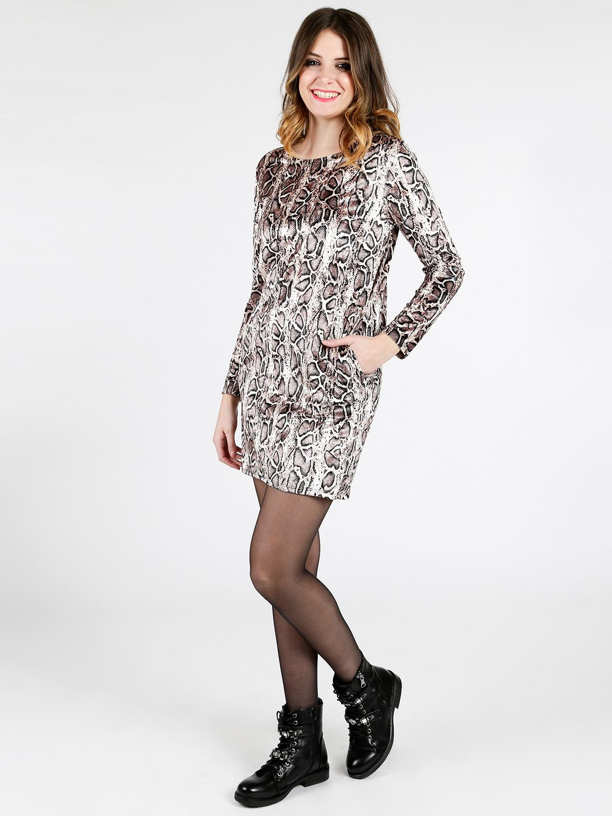 buy online 21341 be025 Vestito corto animalier solada | MecShopping