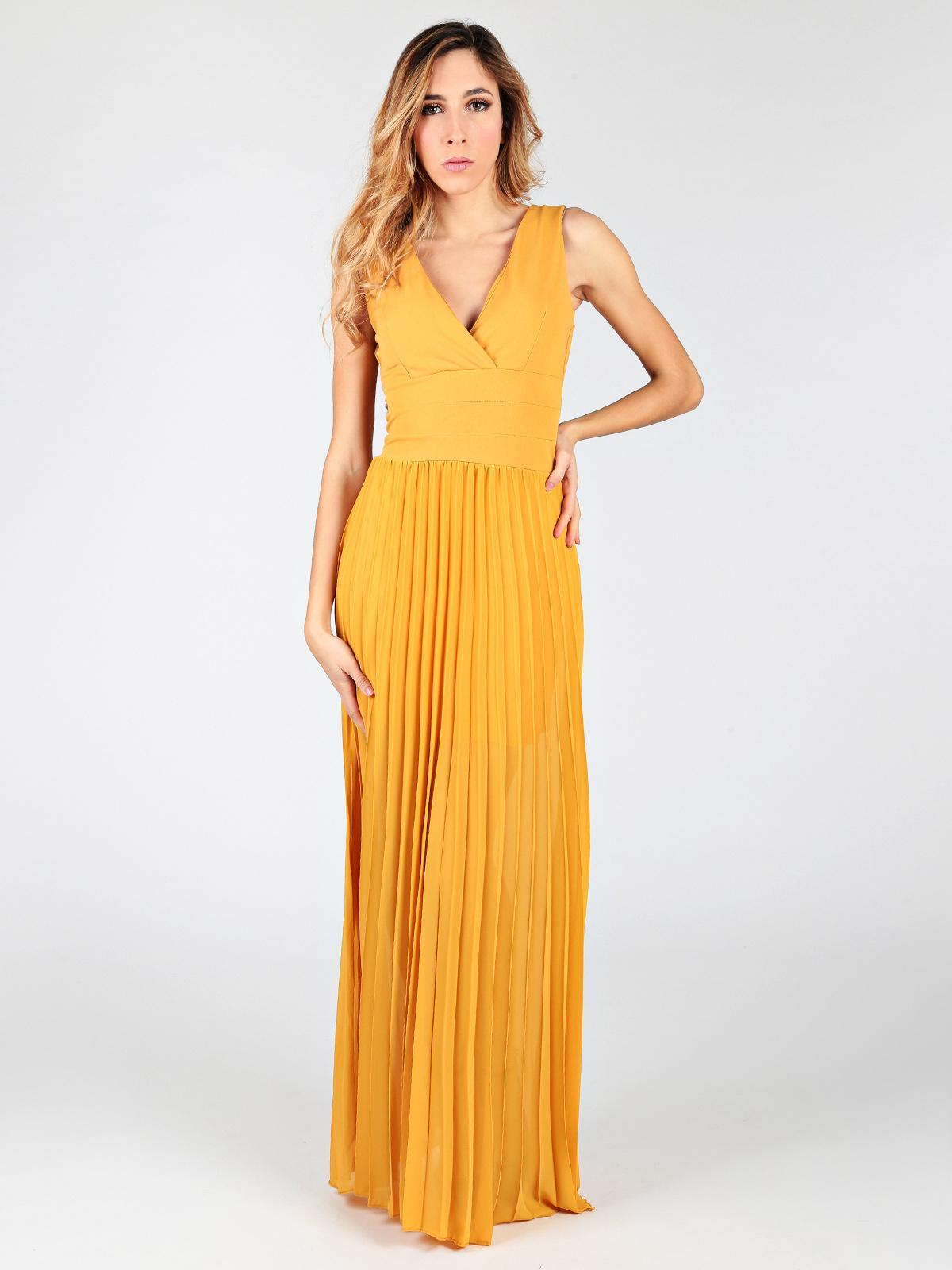 online store d6a38 5282a Vestito elegante con gonna lunga solada | MecShopping