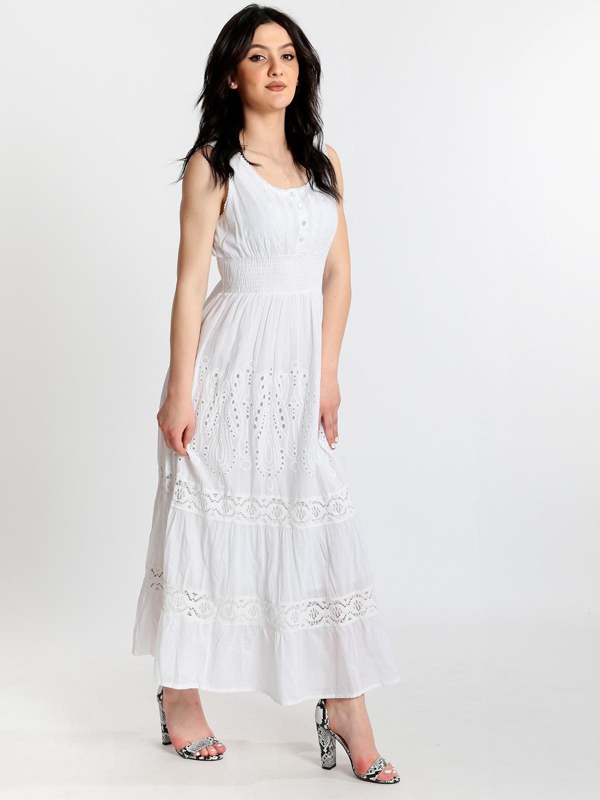 promo code 5f5d4 32d43 Vestito lungo in cotone indian emporium | MecShopping