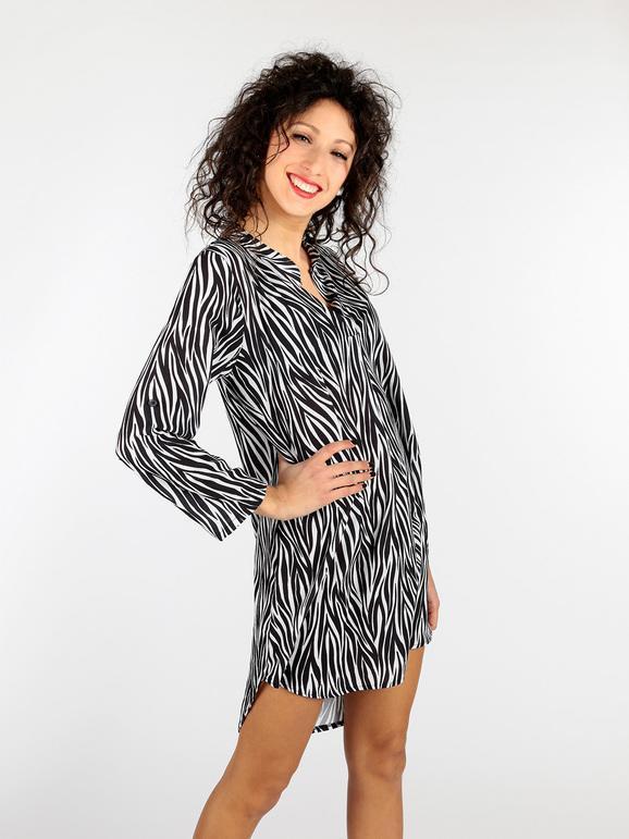 half off e5b05 ec4e9 Vestito zebrato con scollo a V solada | MecShopping