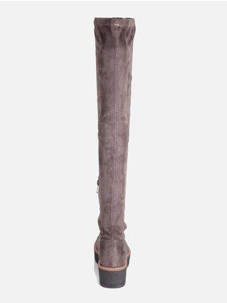 Stiefel janessaMecShopping Damen ohne Absatz Schuhe Stiefel kiuPXZ